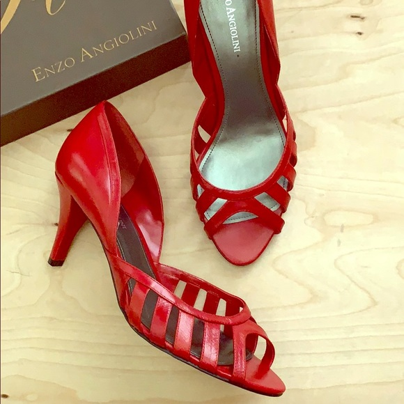 Enzo Angiolini Shoes - Enzo Red Leather Heel